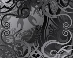 Dark Abstract Wallpaper by Cuddly-Kunoichi