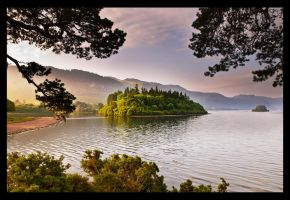Morning Mist over Derwentwater by Lightfoot11