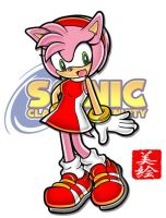 Amy Rose Character Art by themie