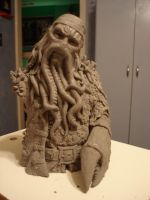 Davy Jones Scuplture by theblacklagoon00