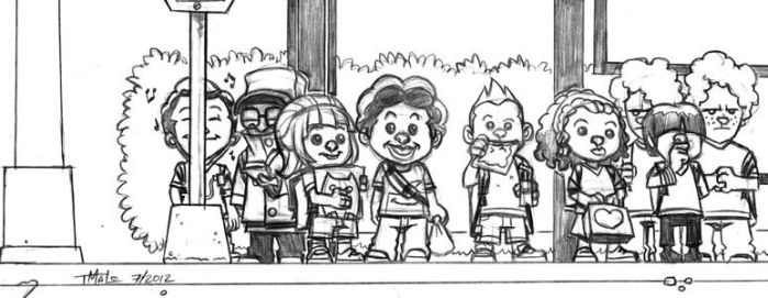 Bus Stop Kids by TheCucoKing