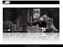 Blacc City Mixtape Cover by 5MILLI