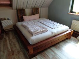 bed made from old cinema roof truss by handwerker2-0
