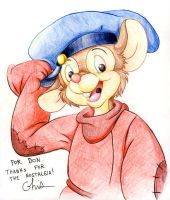 Fievel for Don Bluth by BD-Ghis