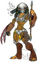 Female Predator Full body by crookedsaint