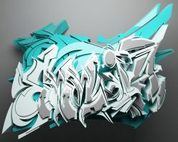3d graffiti by anhpham88