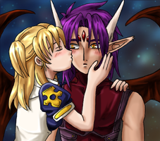CR ChallengeArt- Innocent Kiss by amako-chan