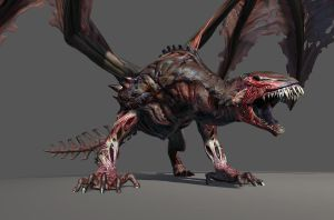 Guildwars 2 Undead Dragon by Snookiedowork