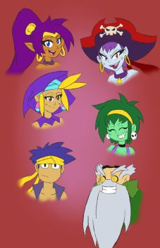 Shantae sketches by Jeddy017-VZ