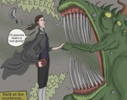 Garrow Defending the Monster by AymsterSilver