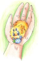 Joltik in hand by eternalsaturn