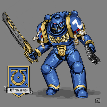 Power Armor Template: Ultramarine by Babymordred121