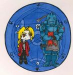 Ed and Alphonse Elric Chibi by shadowhawk49