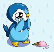 Piplup is having a bad day. by DarkFeather