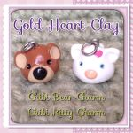 Bear and Kitty Charms! by Gold-Heart-Clay