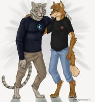 Commission - Kuro and Tonny by Gerardson