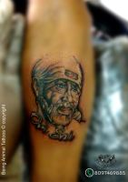 Sai Baba By Tattooartist Sachin by Samarveera2008