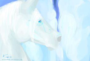 White Spirit Horse (off-white) by GureeOokami