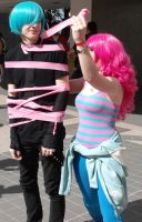 Mikuo + Pinkie Pie: You've just been Pinkie Pie'd! by InuKid