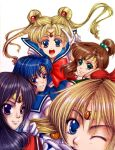 sailor moon group pic colored by ched101287
