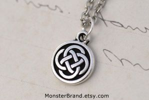 Tiny Celtic Knot Necklace by MonsterBrandCrafts