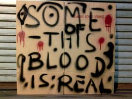 Some Of This Blood Is Real by Karenemc1