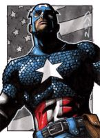 Captain America - Sketch Card by J-Redd