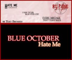 Hate Me - Text brushes by NemesisDivina666