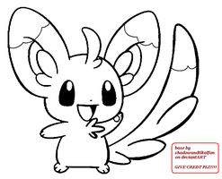 Minccino base/Lineart by shadowandtikalfan