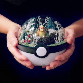 Pidgeot December Nest - Poke Ball Terrium by TheVintageRealm