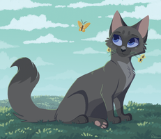 Day 3: Cinderpelt by AulrenArts