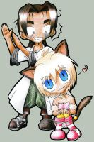MAR Chibis - Alan and Chaton by Neowitch