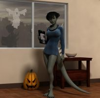 Halloween Art Jam 2013: Gigi by shadowblade316