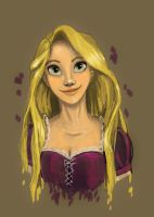 Rapunzel Portrait 2.0 by katiediazz