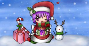 Ayane Christmas Card COLORED by AznAshie