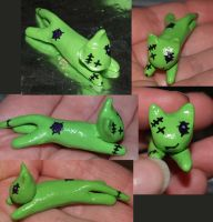 Kade The Zombie Kat in Sculpy! by LilWolfStudios