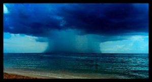 Storm Off Of Grand Cayman by mastercylinder