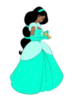 Jasmine as Cinderella by DisneyWiz
