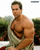 muscleMorph: Ryan Reynolds by dolphinbad