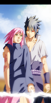 Naruto 685 - Sasuke and Sakura by StingCunha