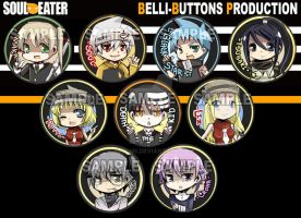 Soul Eater Button Set by jinyjin