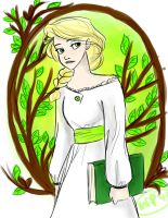 Lydia and the Forest by Vanilla-Fireflies
