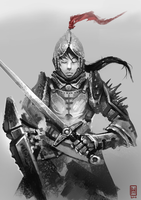 Female Knight by Spikings