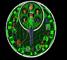 Stained Glass: Ben 10 by StarRobGRL