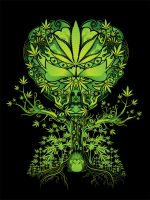 Marijuana Love Tree by grebenru