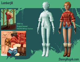Lumberjill Mobile Character by dannyhuynh99