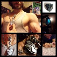 Snow Villiers Cosplay WIP - Necklace by Leon Chiro by LeonChiroCosplayArt