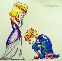 Princess and Knight by nekomell