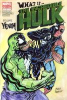 What if Hulk became Venom sketch cover by mdavidct