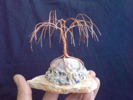 Miniature Wire Bonsai Tree Willow 04-2 by sinisaart